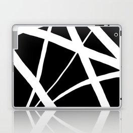 Geometric Line Abstract - Black White Laptop & iPad Skin