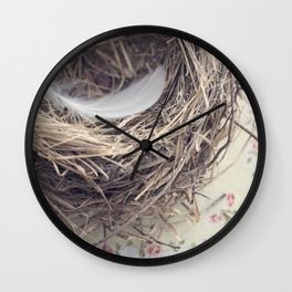 empty nest Wall Clock