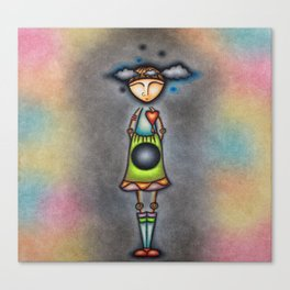 Clouds In My Mind And A Hole In My Gut Canvas Print