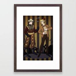 Halloween battle  Framed Art Print