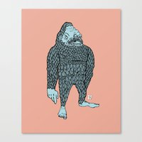bigfoot Canvas Prints featuring Bigfoot by Mason W