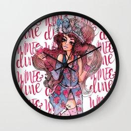 Wine & Dine Wall Clock