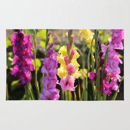 Multi-Colored Gladiolus Rug