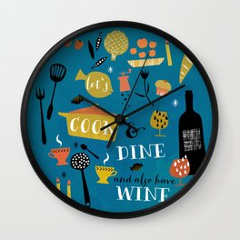 lets cook and dine Wall Clock