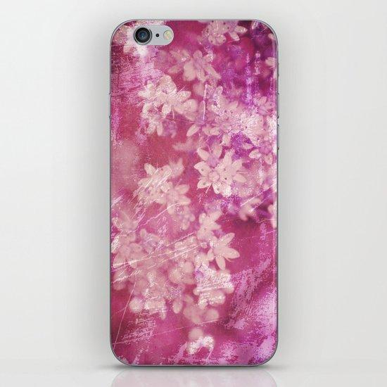 floral grunge pink iPhone & iPod Skin