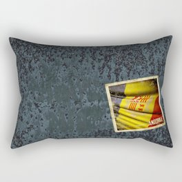 Grunge sticker of Andorra flag Rectangular Pillow
