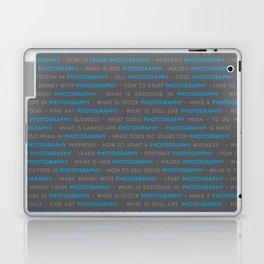 Blue Photography Keywords Text Laptop & iPad Skin