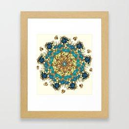 Koi Pond - Golden Version Framed Art Print