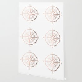 Rose Gold Compass Wallpaper