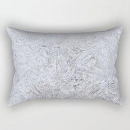 Full Frame Shot of Snowflakes Rectangular Pillow