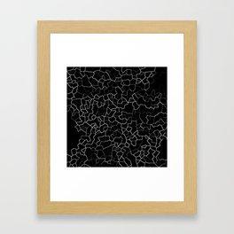 White on Black Crackle Framed Art Print