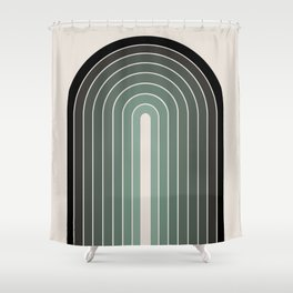 Gradient Arch - Green Tones Shower Curtain