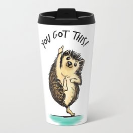 Motivational Hedgehog Travel Mug