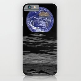 Earth from the moon iPhone Case