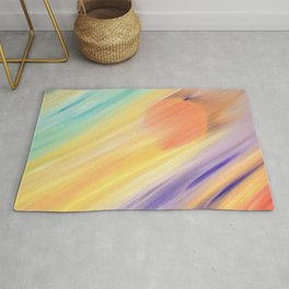 """Catch the Sun #1 – New #1"" Oil Painting Rug"