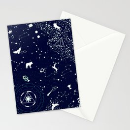 Royal Blue Constellation Home Decor Stationery Cards