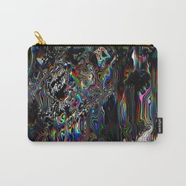 Abstract Spectral Blur Carry-All Pouch