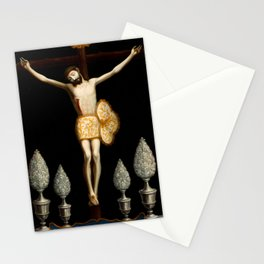 Christ of Ixmiquilpan by Jose de Paez Stationery Cards