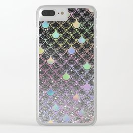 Mermaid scales ombre glitter #2 Clear iPhone Case