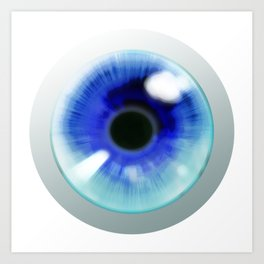 Blue Eye - Graphic Design Art Print