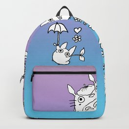 Hand Drawing Chinchilla Family Backpack