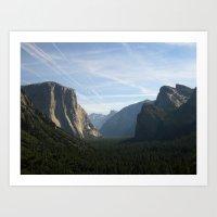 yosemite Art Prints featuring Yosemite by Cory Fitzpatrick