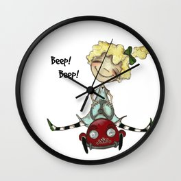 Life is All About the Ride - by Diane Duda Wall Clock