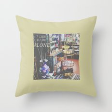 I Like to Be Alone Throw Pillow