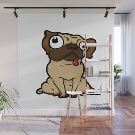 Dopey Pug Wall Mural