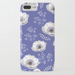 Anemones IV: blue pattern iPhone Case