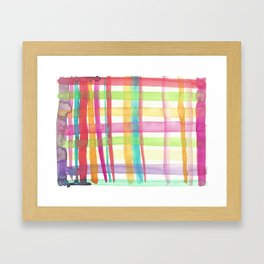 Rainbow Mesh Watercolor Framed Art Print