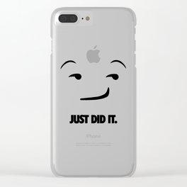 Just Did It Emoji. [Sport Slogan Parody] Clear iPhone Case