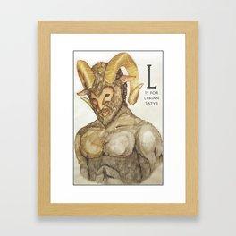 L is for Libyan Satyr Framed Art Print