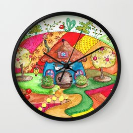 The land of miracles Wall Clock