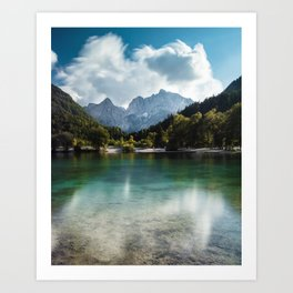 Lake Jasna in Kranjska Gora, Slovenia Art Print