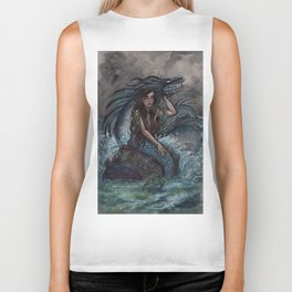 Mermaid and Sea Dragon Biker Tank