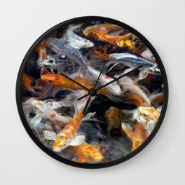 Painted Koi Wall Clock