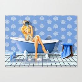The sexy blue bathroom Canvas Print