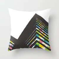 architect Throw Pillows featuring abstract::architect by justlittlebird