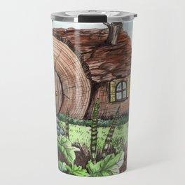 I Dreamed of a Log House Travel Mug