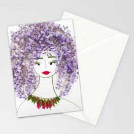 Lili, the inspired visionary Stationery Cards