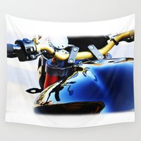 motorcycle Wall Tapestries featuring Motorcycle by Carlo Toffolo