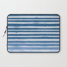 Blue Foil Stripes Laptop Sleeve