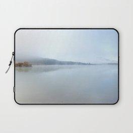 """""""Wild sunrise"""". Foggy lake Laptop Sleeve"""