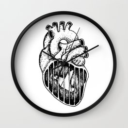 A caged bird Wall Clock