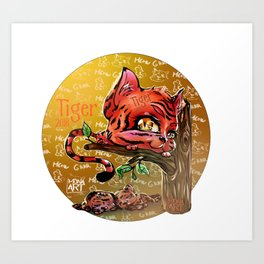 Chines Tiger Horoscope Art Print