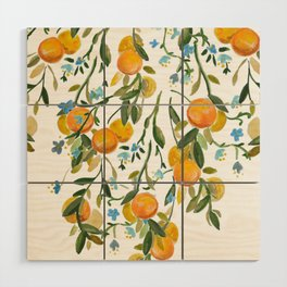 A Bit of Spring and Sushine Trailing Oranges Wood Wall Art