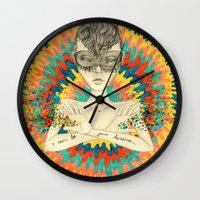 superheroes Wall Clocks featuring Superheroes SF by Krisonautopilot