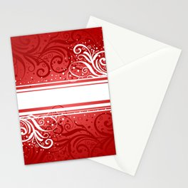 Abstract red-white background Stationery Cards