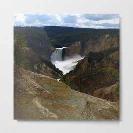 Thundering Waters Of The Yellowstone River Metal Print